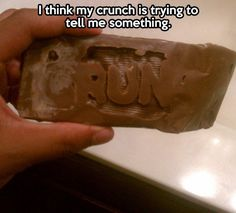 Funny pictures about This Crunch is trying to tell you something. Oh, and cool pics about This Crunch is trying to tell you something. Also, This Crunch is trying to tell you something. Stupid Funny, The Funny, Hilarious, Funny Captions, Funny Pins, Funny Stuff, Random Stuff, Awesome Stuff, Can't Stop Laughing