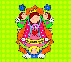 our lady of guadalupe The post our lady of guadalupe& appeared first on Blue Dream Pins. Catholic Crafts, Glitter Graphics, Faith Prayer, Blue Dream, Blessed Virgin Mary, Mother Mary, Our Lady, Cute Illustration, Fabric Painting