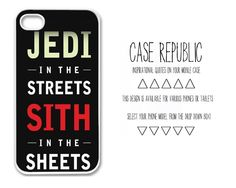 lol Apple iPhone 4 5  Ipod iTouch 5 Samsung Galaxy S3 Case Cover Jedi Streets Sith Sheets Star Wars  Quote  Design