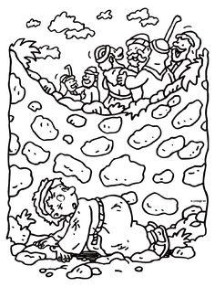 Kleurplaat Josef Bijbelse Figuren Kleurplatennl More