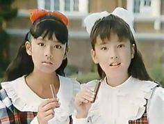 後藤久美子 (Kumiko Gotō) × 宮沢りえ (Rie Miyazawa) in KitKat CM, Japan.
