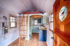 Teal obviously hasn't been around quite as long, but despite his youth he's a skilled cabinetmaker and an expert in energy efficiency, solar power, and sustainability. Together they bring a skilled approach to building these special little homes.  #TinyHouseforUs