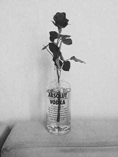 Image de vodka, rose, and flowers