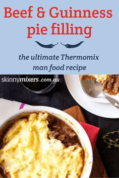 This Beef and Guinness Pie Thermomix recipe can be used in pastry or topped with mashed potato or cauliflower mash for a low carb, gluten free, low calorie pie. Beef And Guinness Pie, Guinness Pies, Low Carb Bun, Low Carb Burger Buns, Pie Recipes, Gluten Free Recipes, Low Carb Recipes, Recipes Dinner, Recipies