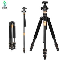 109.40$  Watch here - http://alinr1.shopchina.info/1/go.php?t=32782623217 - QZSD Q999C Carbon Fiber Tripod Pro Tripod Ball Head Monopod Portable Detachable Changeable Traveling for DSLR Camera Camcorder  #magazineonlinewebsite