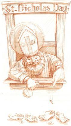 Nicholas Pray for us! Famous Catholics, St Nicholas Day, Liturgical Seasons, German Christmas Markets, Santa Pictures, Christmas Challenge, Catholic Saints, Sacred Art, Christmas Themes