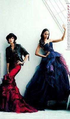 Arizona Muse and Joan Smalls by Mario Testino for Vogue US September 2012