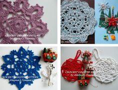 Lavender Red White Blue Christmas Crochet by AleonasTreasury