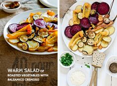 Warm Salad Of Roasted Vegetables With A Balsamic Sauce