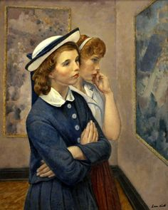 Girls at the Exhibition - Leon Kroll, 1964