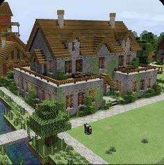 Casa Medieval Minecraft, Minecraft House Plans, Minecraft Cottage, Cute Minecraft Houses, Minecraft House Tutorials, Minecraft House Designs, Minecraft Blueprints, Minecraft Creations, Minecraft Crafts