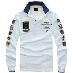 Aeronautica Militare  Men Long Sleeve Polos