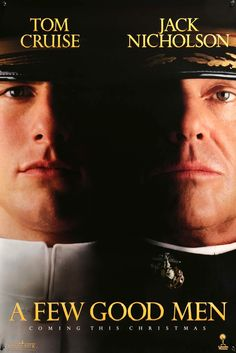 """Film: A Few Good Men (1992) Year poster printed: 1992 Country: USA Size: 27""""x 40"""" This is a vintage, advance one-sheet poster from 1992 for A Few Good Men starring Tom Cruise, Jack Nicholson, Demi Moo"""