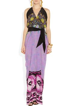Etro | Floral-print silk-crepe maxi dress. Love the Cut but not the print...