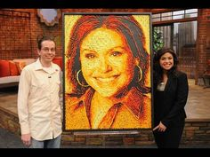 Jason Baalman used 40-50 bags of  four different flavors of Cheetos to create this portrait of Rachel Ray.