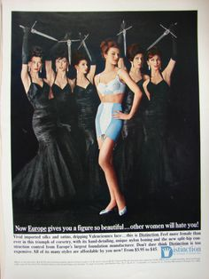 Triumph of Europe lovely bra & matching girdle vintage lingerie ad c1960