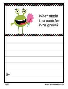 "Writing Prompts: Imagination Builders FIFTEEN Prompts to ignite the imagination! Get those kids sharpening their pencils -- high quality photos and clip art. Samples: What Made This Monster Turn Green?, What Makes You Say, ""Ouch""? LITERACY Fun and Learning. $"