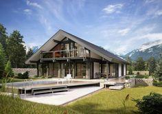 Aktuelles Projekt von unserem Neukunden Davinci Haus! Wooden Architecture, Architecture Design, Mountain Modern, Log Homes, Exterior Design, Apartments, Germany, Projects, Walk In