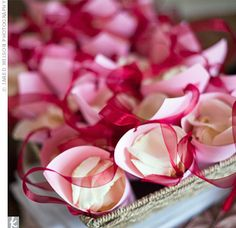 Rose petals for after wedding ceremony
