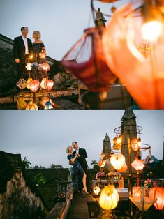 Rooftops of Hoi An #HoiAnEventsWeddings #HoiAn #VietnamBeachWeddings #Lanterns #Newlyweds #Photography #Vietnam