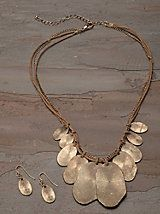 Thumb-Print Necklace and Earring Set | Outlet