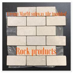 Crema Marfil 2x4 subway tiles tumbled or polish or honed
