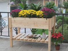 elevated garden planter