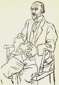 Erik Satie, by Picasso, 1920