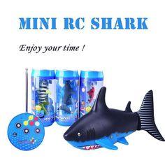 RC Shark Fish Boat Mini Radio Remote Control Electronic Toy Kids Children Birthday Gift Дистанционное Управление Акула Лодка Корабль