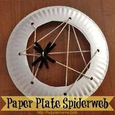 Preschool Sewing Spider Web Craft for Halloween