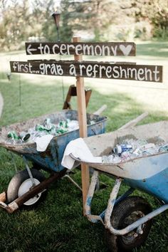 52 Great Outdoor Summer Wedding Ideas Summer is the best time for an outdoor wedding. We have put together some great ideas for your outdoor wedding. Rustic Wedding Signs, Farm Wedding, Wedding Tips, Wedding Bells, Diy Wedding, Wedding Planning, Wedding Summer, Summer Weddings, Budget Wedding