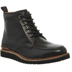 Rockport Eastern Empire Moc Hi Boots ($190) ❤ liked on Polyvore featuring mens, men's shoes, men's boots, black leather, boots, men ve shoes