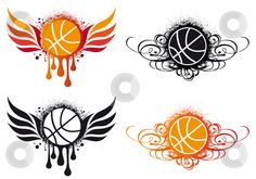 black basketball pictures | Abstract basketball vector stock vector clipart, Basketball with fire ...