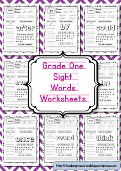 grade one sight words front cover-page-0