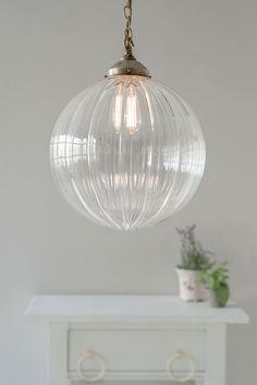 Greenwich Pendant Light in Antiqued Brass Pendant Light Fitting, Glass Pendant Light, Glass Pendants, Pendant Lighting, Hall Lighting, Living Room Lighting, Kitchen Lighting, Lighting Ideas, Bedroom Lighting