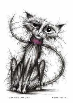 Sardine the cat Print download by KeithMills on Etsy, £3.00