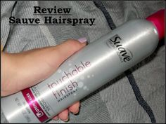 Read about this here - http://ccfashion16.blogspot.com/2014/01/suave-touchable-finish-hair-spray-review.html
