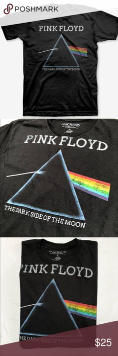NEW 🌘🌈 PINK FLOYD DARK SIDE OF THE MOON TEE SZ L BRAND NEW, NEVER WORN! 🌘 SIZE LARGE MENS. Officially licensed and officially AWESOME. 100% Cotton tee. MENS FIT. True to size.   Ships same or next day from my smoke free home. Priced firm. Bundle to save. 🌈 Urban Outfitters Shirts Tees - Short Sleeve