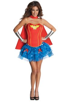 Wonder Woman Corset Tutu Costume