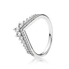 Authentique Argent Sterling 925 Fairytale Tiara superposable zircon cubique Bague Taille 6 7 8 9