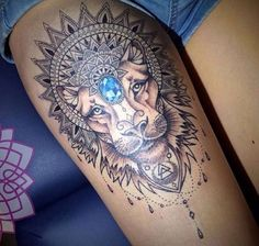 Pinterest: @MazLyons Lion tattoo