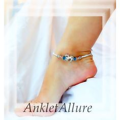 Beach Riding Horse Anklet Blue Crystal Ankle Bracelet Horse Jewelry ($16) ❤ liked on Polyvore featuring jewelry, crystal ankle bracelets, horse jewellery, blue crystal jewelry, beach anklets and beach jewelry