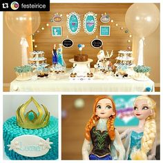 #Repost @festeirice. ・・・ KIT DECORAÇÃO + KIT DOCES  Pra fazer festa em casa ou no salão de festas de forma fácil, mas com participação e amor da família, se joga nos nossos Kits - decoração completa para alugar já com doces deliciosos da @pieceofcakebr combinando! Pra encantar! Alugue e compre em nossa loja virtual ;-) #festeirice 🎈#festainfantil #decoracaoinfantil #frozen #festafrozen #decoracaofestafrozen #alugueemonte #kitfesta #docedefesta #bolofrozen #bolofesta