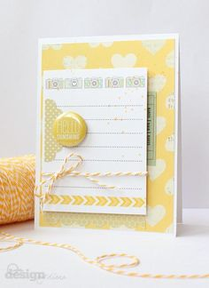 Hello Sunshine Card by. @Diana Fisher Created with the March 2013 #cocoadaisykits Sketchbook