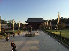 Court yard at Todai-Ji Temple, Nara Park
