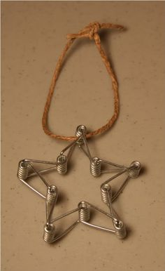 Clothespin Spring Star Ornament