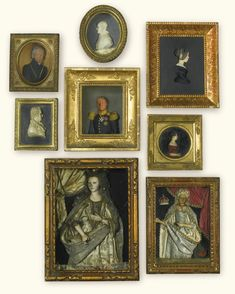 A collection of eight German wax miniature portraits 19th century | lot | Sotheby's