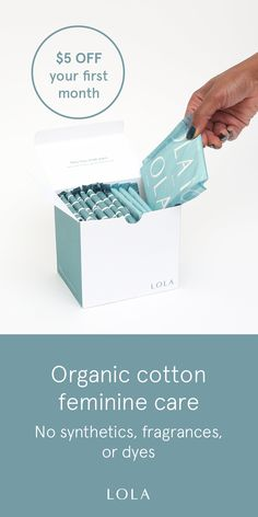 Did you know the FDA doesn't require feminine care brands to disclose a comprehensive list of ingredients? We believe in transparency, so we do! Our tampons are made from 100% organic cotton with no synthetics, fragrances, or dyes.