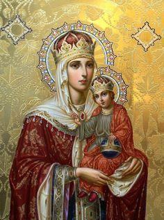 Znalezione obrazy dla zapytania matka boza pompejanska
