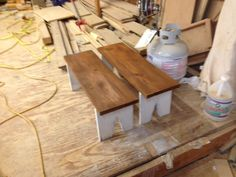 benches for childs harvest table